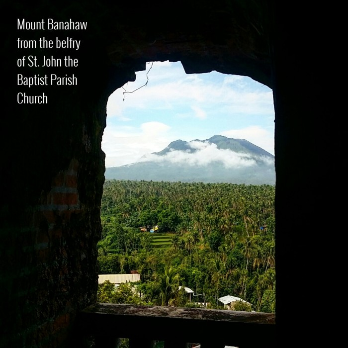 Mount Banahaw from Liliw Church's Belfry